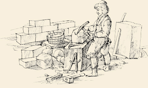 Drawing sweeper at work | Charles Bridge Museum