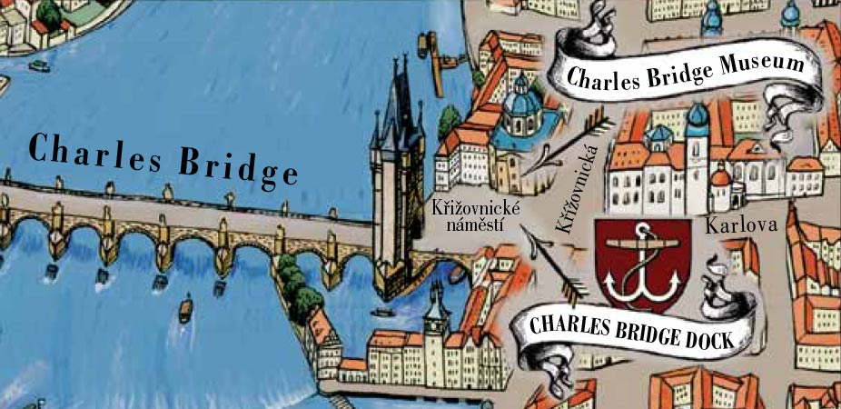 Map location del Museo Ponte Carlo | Charles Bridge Museum