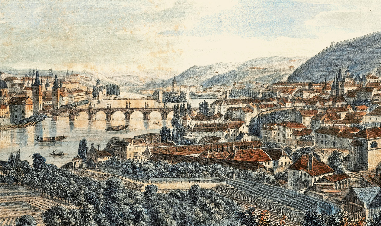 Period panorama of Prague with the Charles Bridge | Charles Bridge Museum