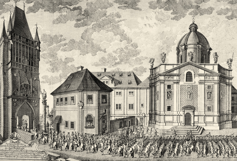 Drawing Křižovnické Square | Charles Bridge Museum